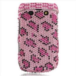 Pink Leopard Bling Case Cover For Blackberry Bold 9700