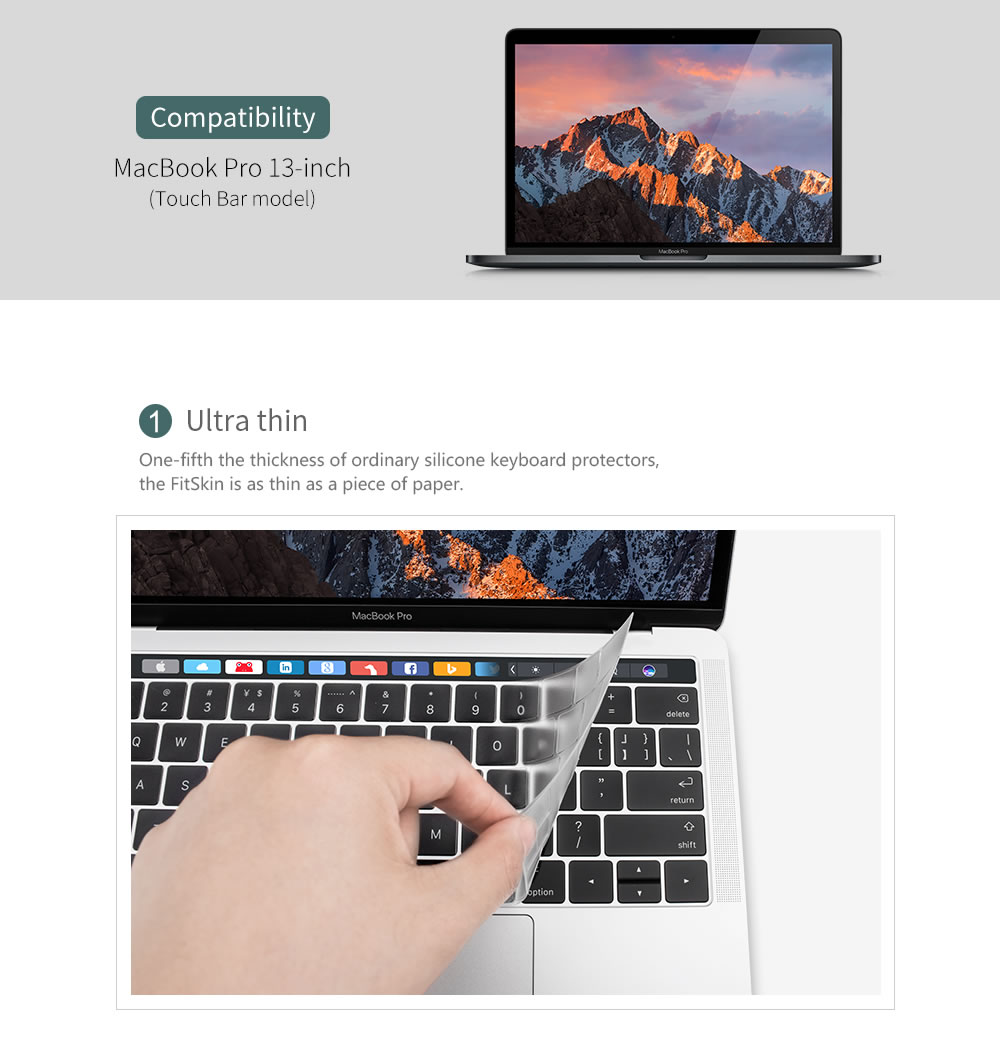 """For Macbook 12 Pro 13"""" 15"""" With/out Touch Bar 2016 Slicone"""